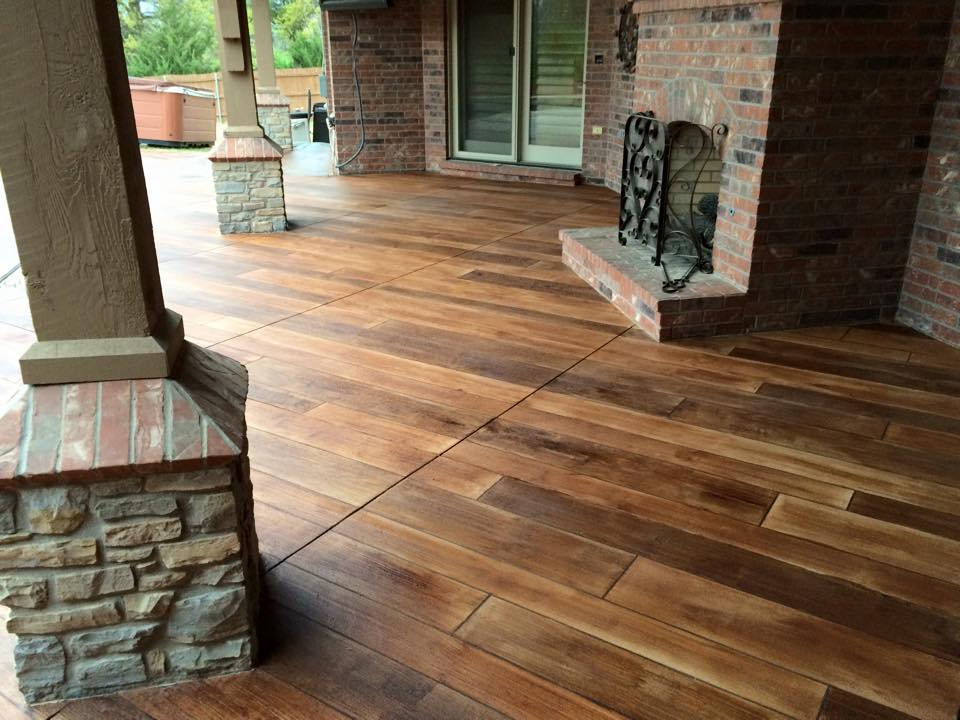 Wood Stamped Concrete Floors : Stained concrete wood fort wayne indiana supremecrete
