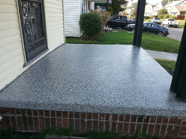 Front Porch Concrete Resurface Makeover Lima, OH | Supremecrete